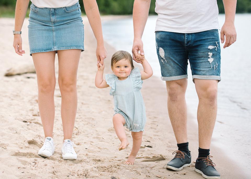 familjefotografering på stranden i domsand